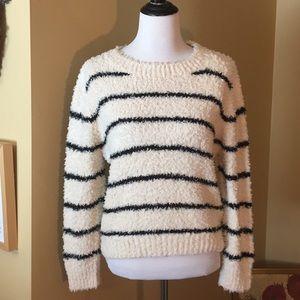 VINCE sz SMALL stripe sweater LINEN COTTON $395new